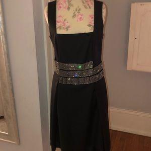 Black and crystal Tory Burch evening dress